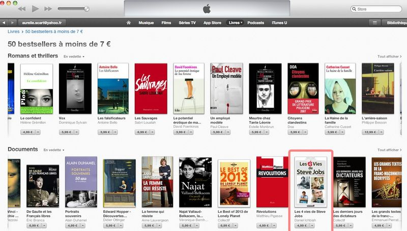 Liste best-sellers d'Apple