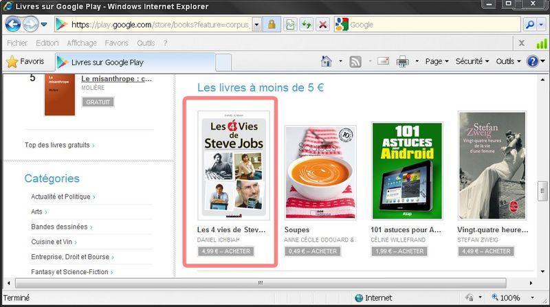 Steve jobs promo google play