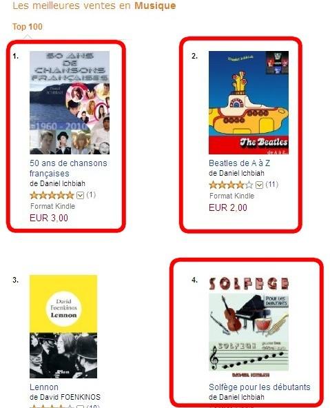 N 1 N 2 Et N 4 Des Ventes De Livres Musique Sur Amazon